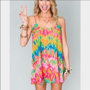 Show me your mumu Rare bella dress in vision heat